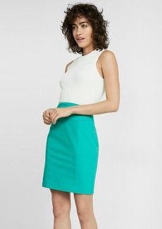 High Waisted Pintucked Pencil Skirt