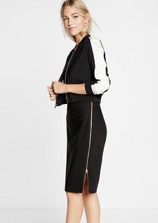 High Waisted Zip Side Pencil Skirt