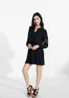 Lace Inset Elastic Waist Dress