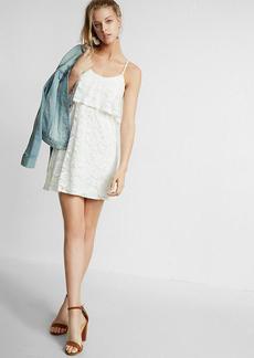 Lace Ruffle Trapeze Cami Dress