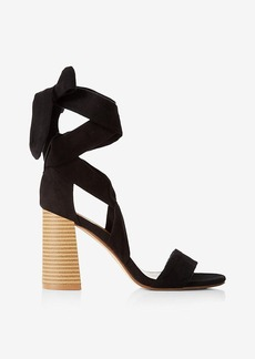 Express Lace Up Ballet Tie Heeled Sandal