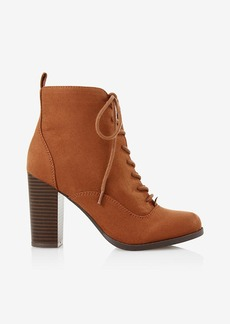 Express Lace Up Heeled Bootie