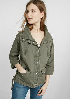Express Lace Up Side Military Jacket