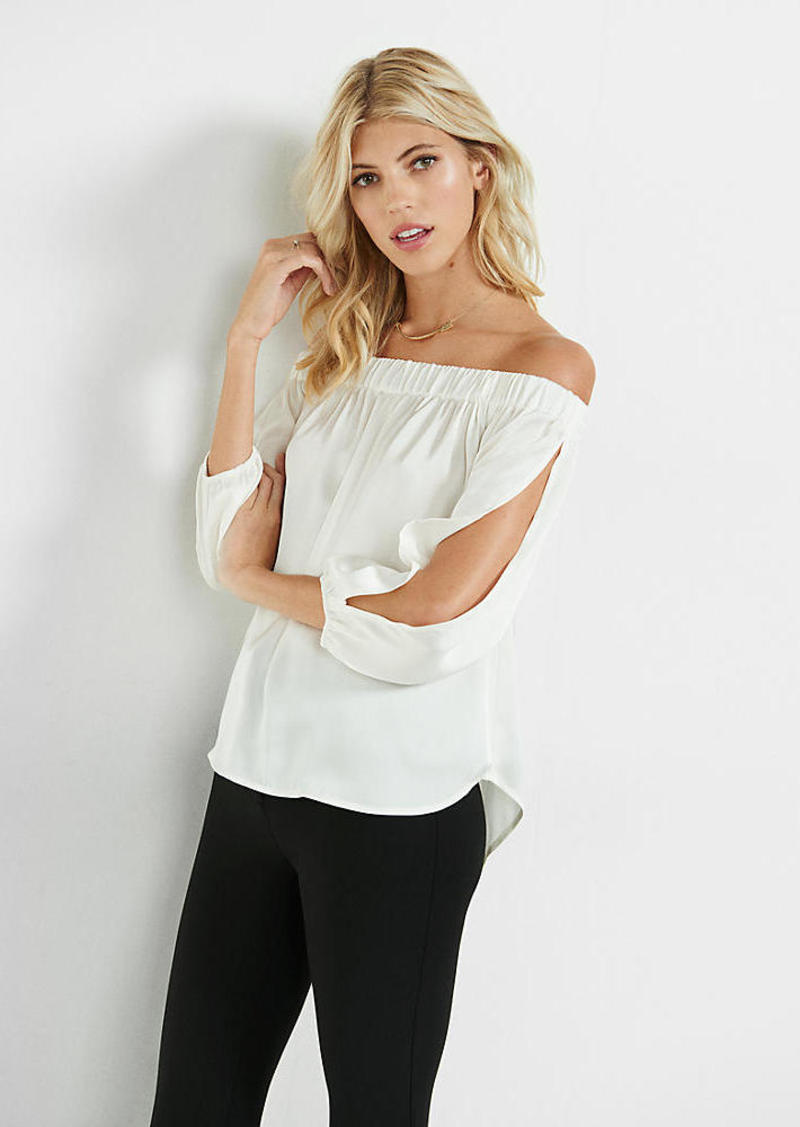 Express Long Sleeve Off The Shoulder Blouse
