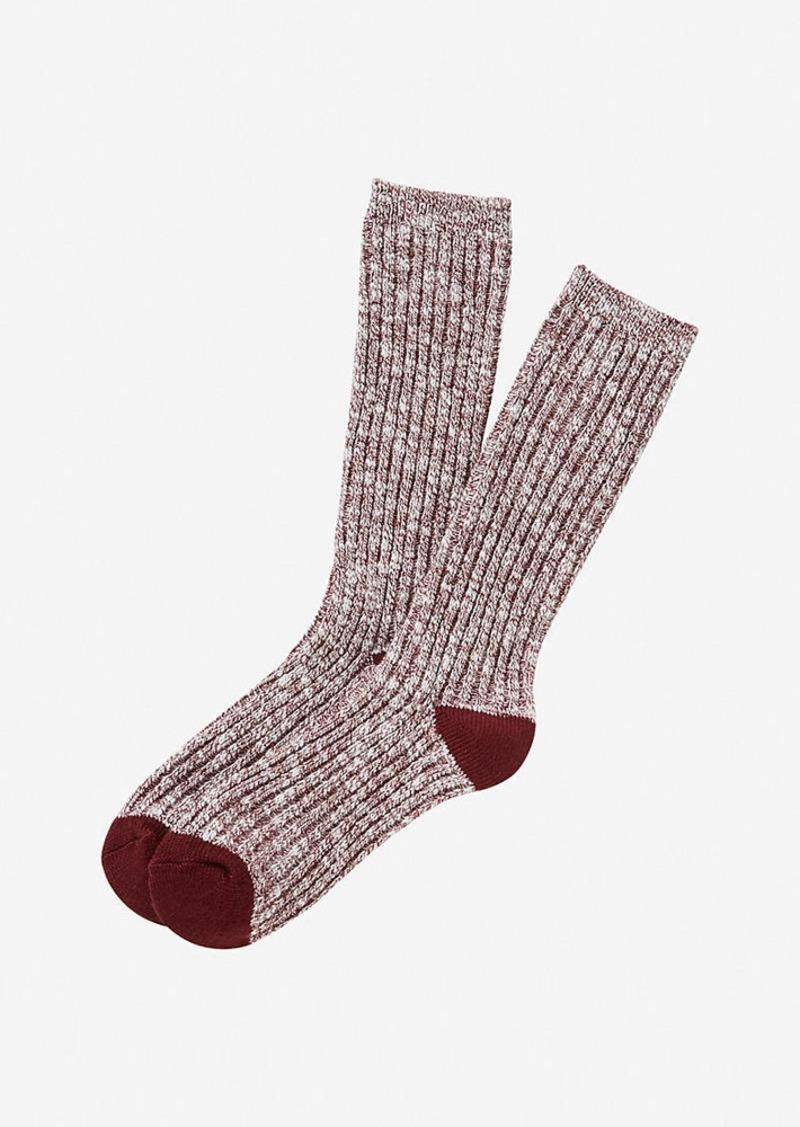 Express Marled Tip Crew Socks