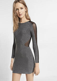 Mesh Inset Metallic Mini Dress