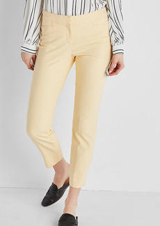 Express Mid Rise Ultimate Double Weave Cropped Skinny Pant
