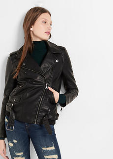 (Minus The) Leather Elongated Moto Jacket