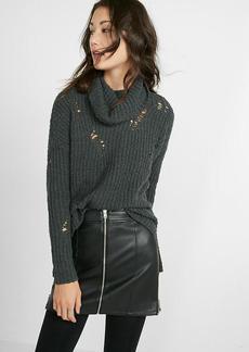 Express (Minus The) Leather Moto Mini Skirt