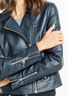 (Minus The) Leather Navy Moto Jacket