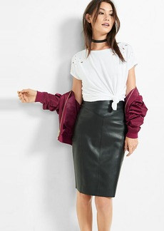 Express (Minus The) Leather Pencil Skirt