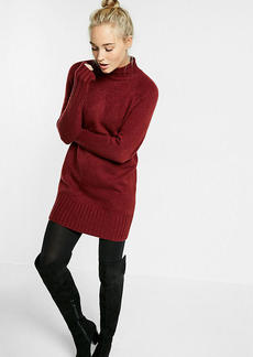 Mock Neck Shift Sweater Dress