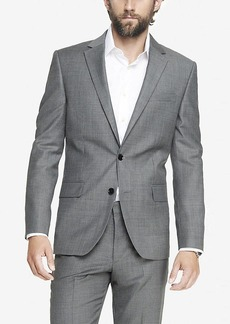 Express Modern Producer Micro Twill Gray Suit Jacket