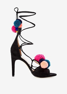 Express Multicolor Pom Pom Lace Up Pump