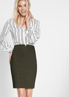 Notch Front Pencil Skirt
