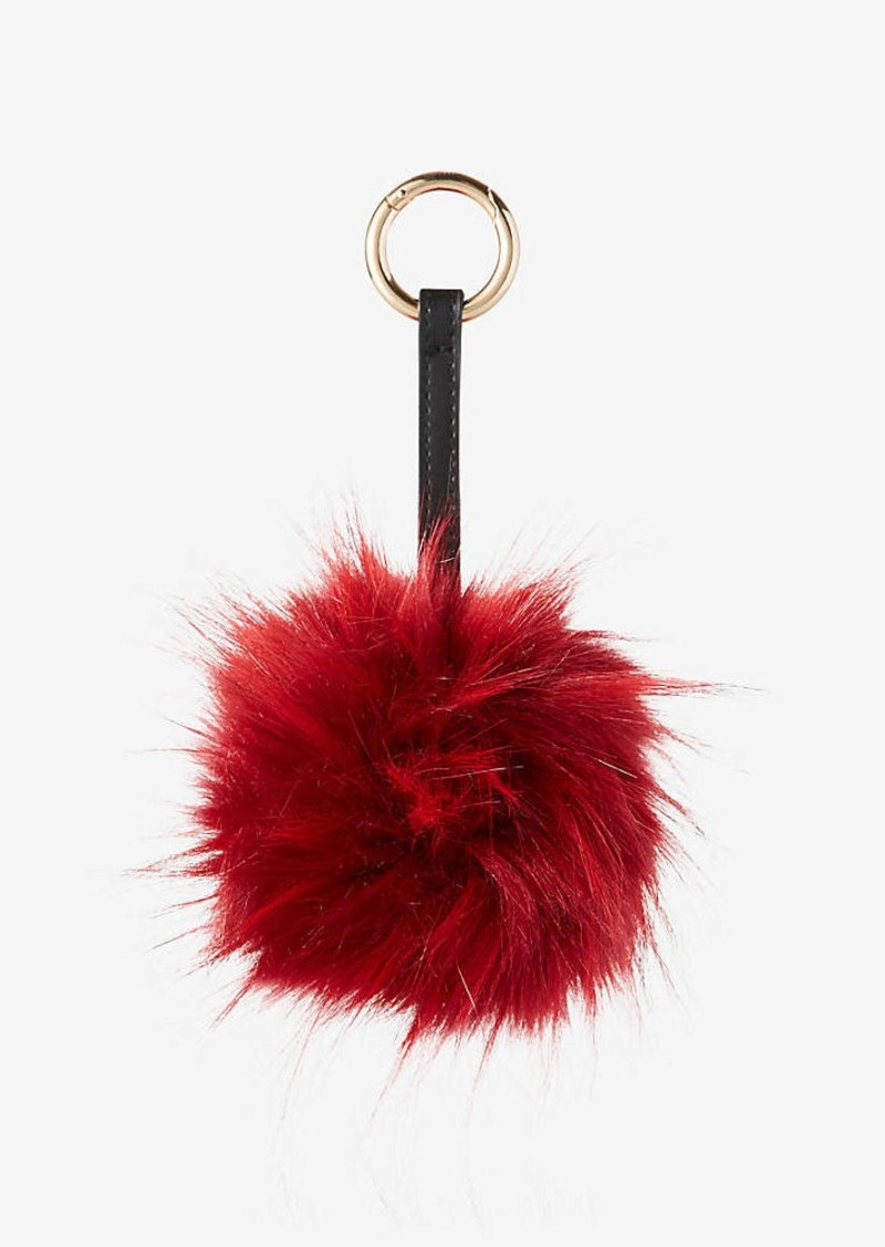Express Ok Originals Red Faux Fur Pom Keychain And Bag Charm