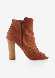 Express Perforated Peep Toe Bootie