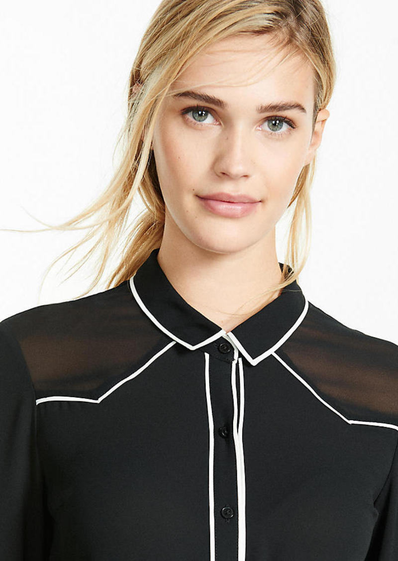 Express Piped Western Shirt
