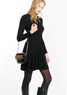 Ribbed Fit And Flare Sweater Dress