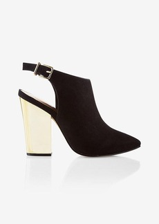 Express Pointed Toe Heeled Mule Bootie