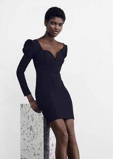 Puffed Shoulder Sheath Dress