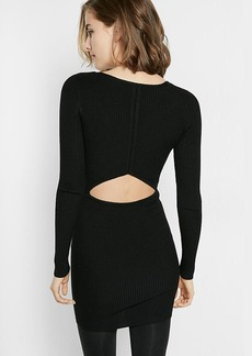 Ribbed Cut Out Back Sheath Dress