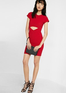 Ribbed Cut Out Sheath Dress