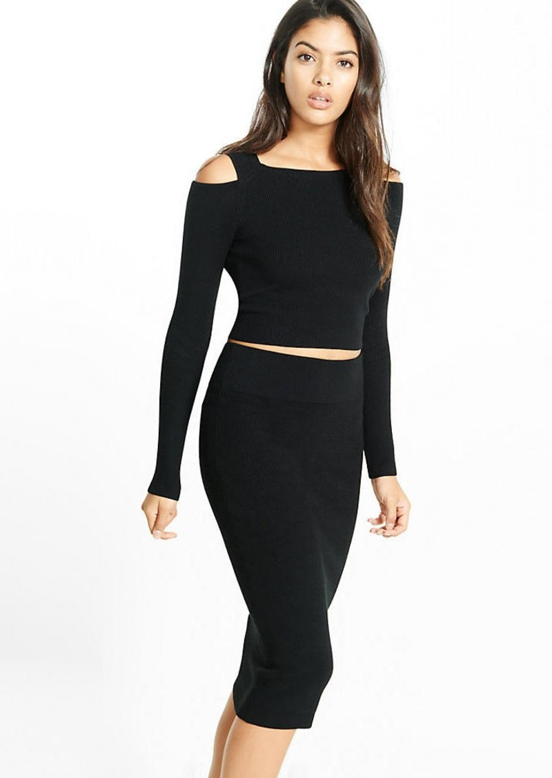 Express Ribbed Sweater Pencil Skirt | Skirts - Shop It To Me