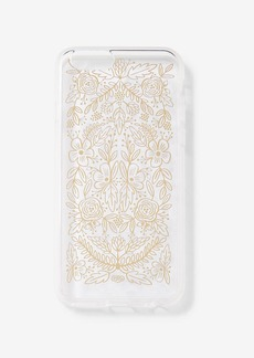 Express Rifle Paper Co. Clear Gold Floral Lace Iphone 6/6 S Case