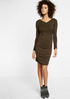 Ruched Crossover Front Dress