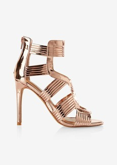 Express Shiny Caged Heeled Sandal
