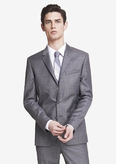 Express Skinny Innovator Micro Twill Gray Suit Jacket