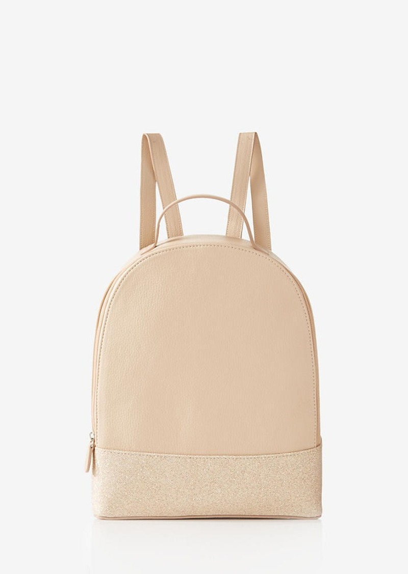 Express Solid Zip Up Backpack