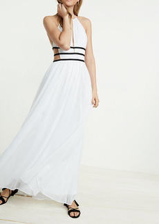 Strappy Cut Out Plunge Maxi Dress