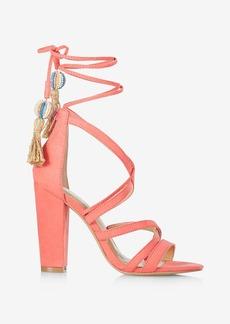 Express Strappy Tassel Tie Heeled Sandals