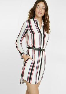 Express Striped Shirt Dress