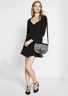 Sweetheart Neckline Bell Sleeve Dress