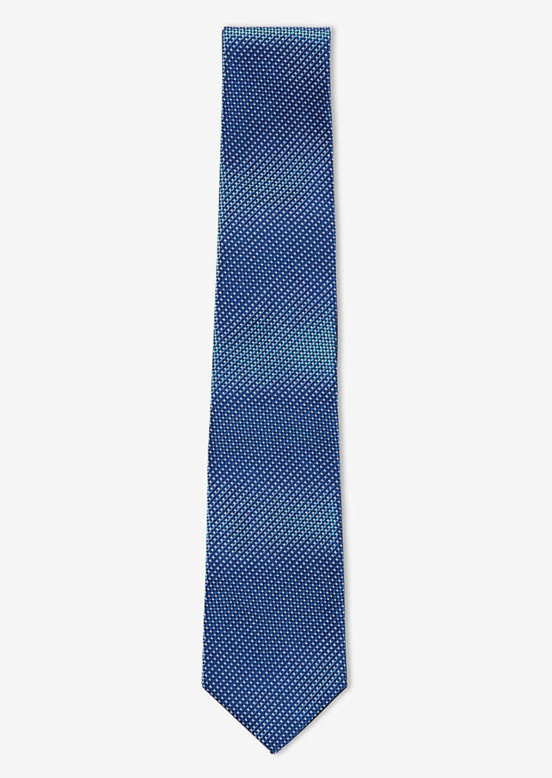 Express Tall Slim Micro Print Silk Tie