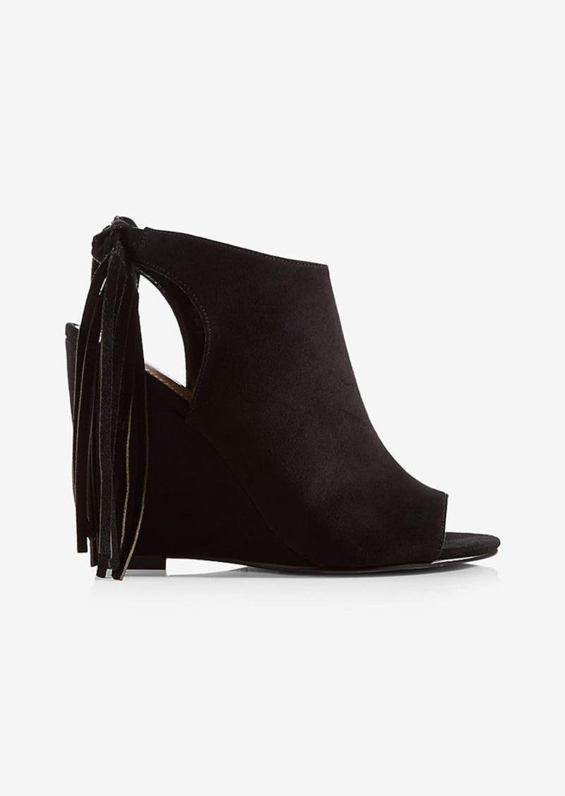 f757d24e1f3 Express Tassel Back Wedge Sandals Now  29.99