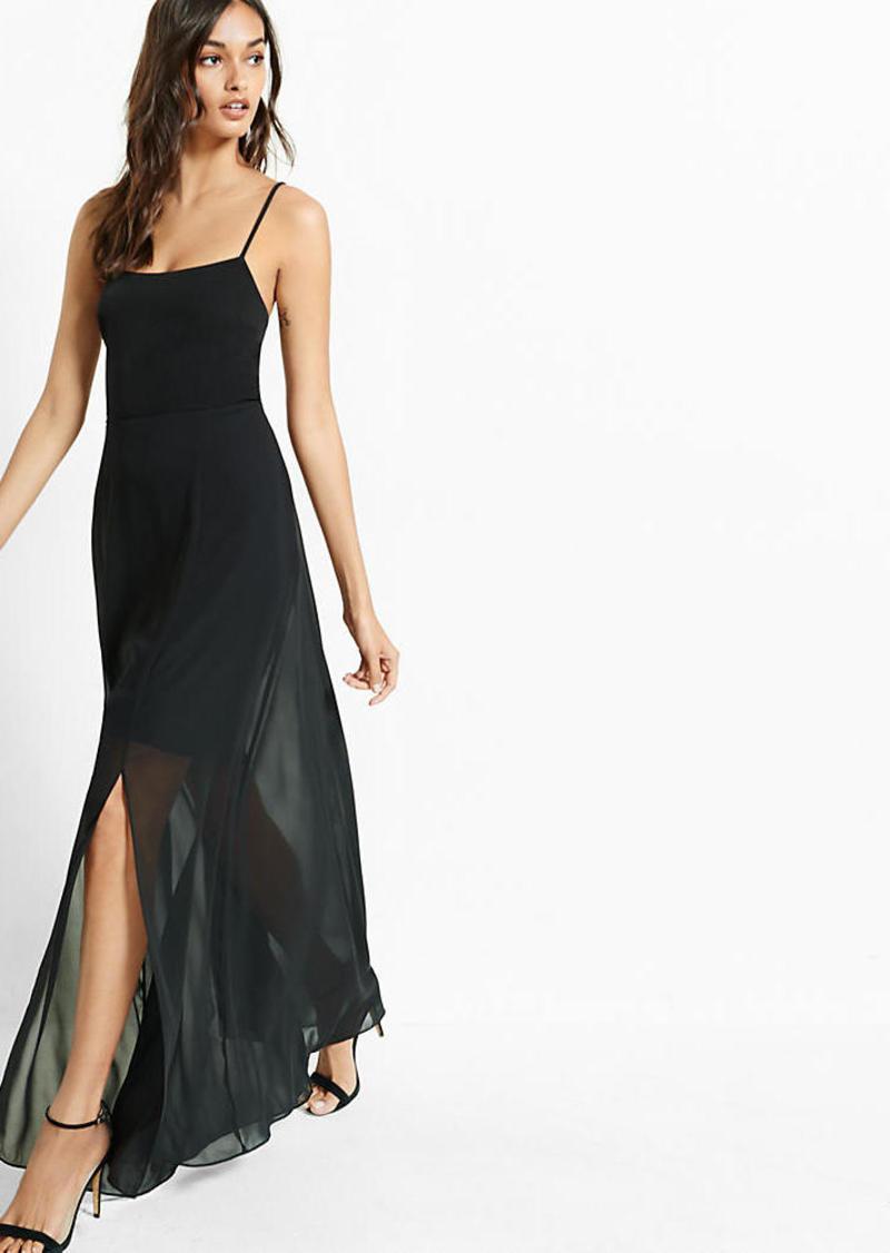 Express Tie Back Maxi Dress