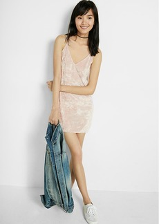 Velvet Tie Back Slip Dress
