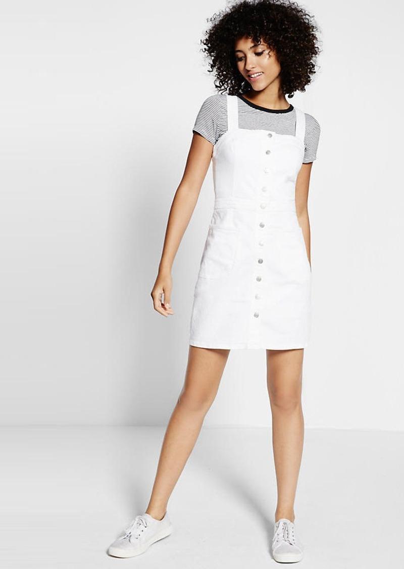 e7fdcdbbbdffb Express White Denim Sleeveless Button Front Dress | Dresses