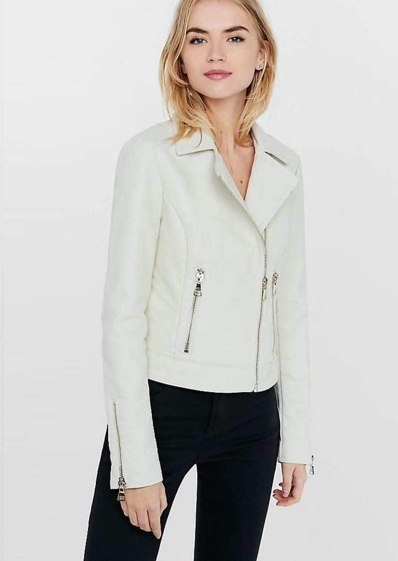 Express White (Minus The) Leather Moto Jacket