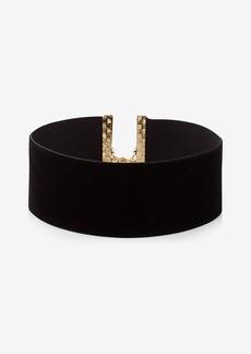 Express Wide Velvet Choker Necklace