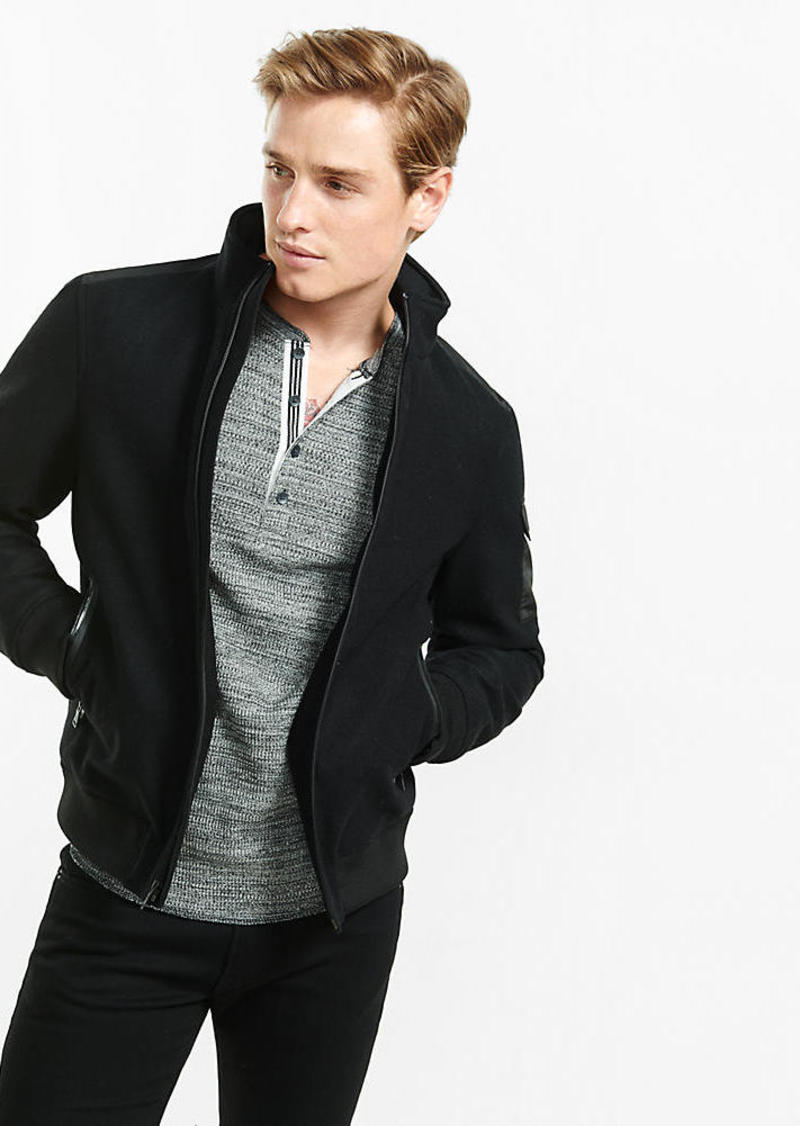 Express Wool Blend Bomber Jacket