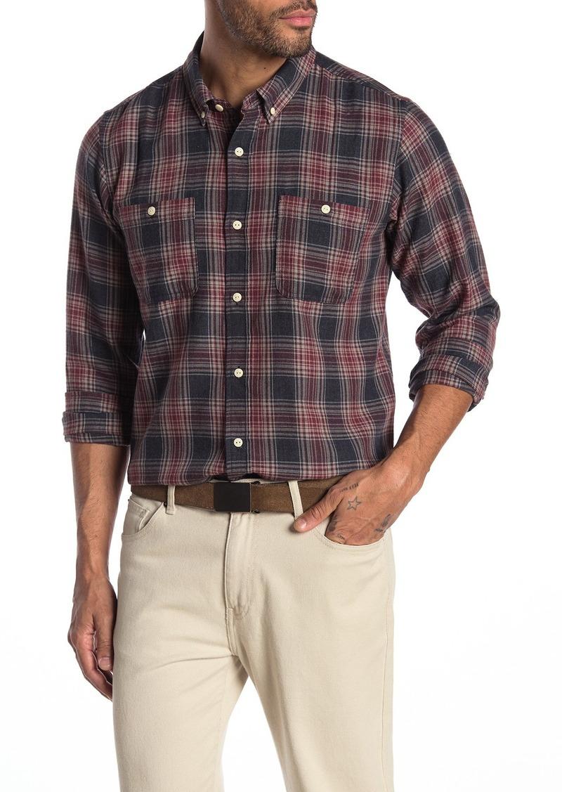 Ezekiel Alabama Plaid Print Double Pocket Woven Shirt