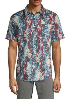 Ezekiel Botanical Short-Sleeve Button-Down Shirt