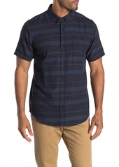 Ezekiel Coto Colorblock Stripe Short Sleeve Woven Regular Fit Shirt