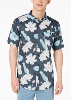Ezekiel Men's Dewey Floral-Print Pocket Shirt