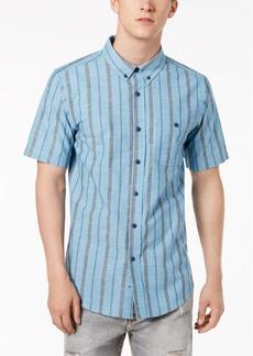 Ezekiel Men's Halston Textured Yarn-Dyed Stripe Pocket Shirt